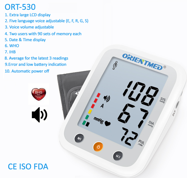 ORIENTMED-530-Details-of-blood-pressure-monitor