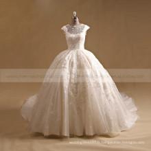 Robe de mariée en mousseline de soie en satin de dentelle Robe de mariée Robe de mariée