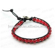 Friendship wrap Bracelets with Agate stone Beads