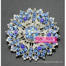 Chrysanthème unique broche en cristal floral
