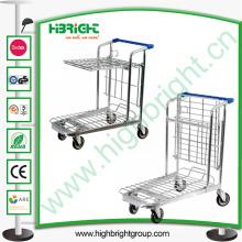 Chariot pliable de plate-forme de plate-forme de comprimé d'entrepôt