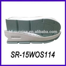 Nuevas suelas antideslizantes del material de la PU del diseño suelas de zapato de los zapatos de encargo suelas exteriores zapatos