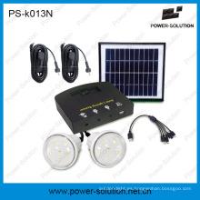 Equipos de energía solar portátil de 4W con 2 bombillas LED