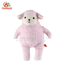 Brinquedo de carneiro de pelúcia gordo rosa recheado