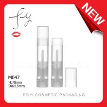 Nuevo tubo transparente único del bálsamo de labio