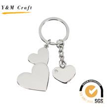 Crystal Round Silver Letter Keychain, Rotating Letter Rhinestone Metal Keychain
