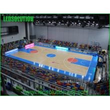 Quadro de avisos do diodo emissor de luz do estádio de Basketball da propaganda da cor completa