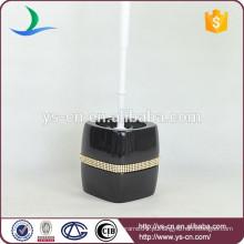 YSb50107-01-tbh Suporte de escova de toucador de dolomita preto com diamante