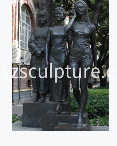Bronze Woman Sculpture