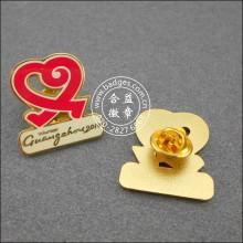 Значок волонтера формы сердца, пользовательский штырь отворотом (GZHY-LP-045)