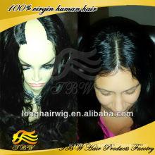 Самые лучшие продавая продукты индийский Реми среднего U часть человеческих волос парик glueless волнистые парики