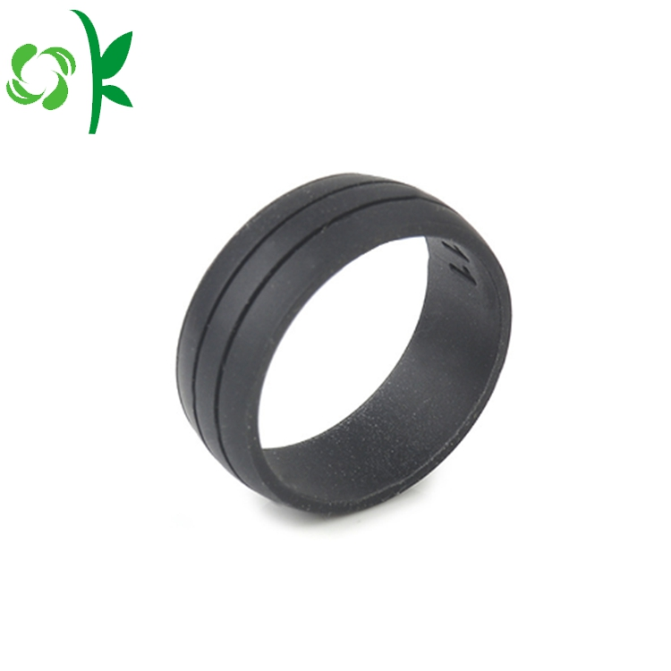 Grey Silicone Debossed Ring