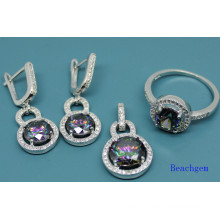 925 Sterling Silver Jewellery Set with Mystic Cubic Zirconia (S3310)