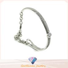 Роскошный австрийский кристаллический Bangle Красивый серебр ювелирных изделий конструкции 925 серебряный (G41252)