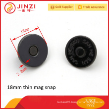 18mm gun color magnet button and buckles for leather bags
