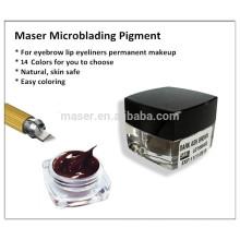 Professional Manual Permanent Makeup Eyebrow Tattoo Pigment Paste Microblading Utilisation uniquement