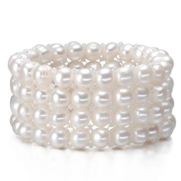 4rows Designs Wholesale Bracelet à perles d'eau douce en vraie culture