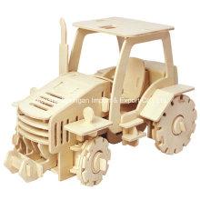 Boutique Brinquedos de madeira sem cor-Veículos-Trator