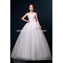 O mais novo Design Elegant Sweetheart Neckline Organza Vestidos de casamento nupcial