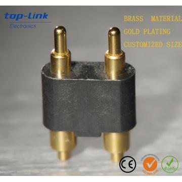 Single Row 2 pinos SMT Durabilidade Primavera Carregado Pogo Pin Connector