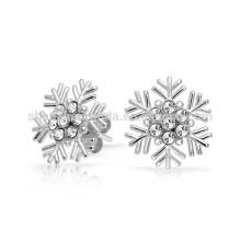 Dom para namorada Cubic Zirconia Snowflake Stud Earrings Fabricante