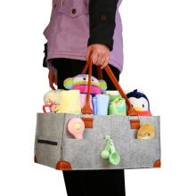 Bolsa de carrito de pañales con caja de almacenamiento para bebés calientes