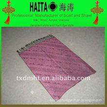 Jaquard shawl scarf with acrylic