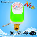 Compteur d'eau de contrôle électronique de valve à lecture directe vert