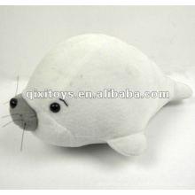 100% precioso delfín blanco de peluche relleno de algodón