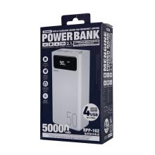 Remax Join Us RPP-162 Smart Power Bank 50000 With strong light 4 Usb Outdoor Digital display High Capacity Powerbank 50000Mah