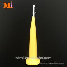 Selección de calidad Múltiples colores disponibles Amarillo limón Velas en forma de bala de cumpleaños en venta