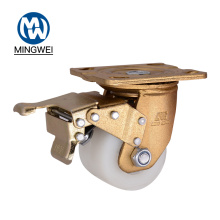 Roulette pivotante en nylon robuste avec frein