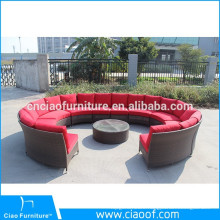 Hot Selling Leisure Round Rattan Lounge Sofa Set