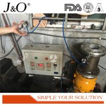 Válvula de aço inoxidável industrial de Pnumatic Satinless com flange