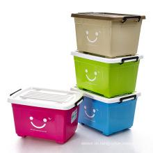 Bunte Lächeln Design Plastic Storage Container für Lagerung (SLSN048)