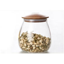 Alto vidro de borossilicato de ar frasco de vidro apertado leve peso