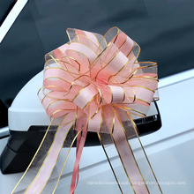 Pull Bow Mixed Color Large Size Organza Ribbon Flower for Gift Decoration