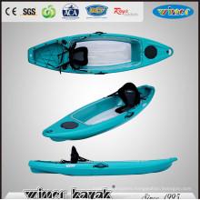 Single Sit on Top Bottom Transparent Fishing Kayak with Deluxe Kayak Seat