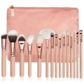 Benutzerdefinierte Make-up Pinsel einfaches Design grün lila 7 Stück Make-up Pinsel Set