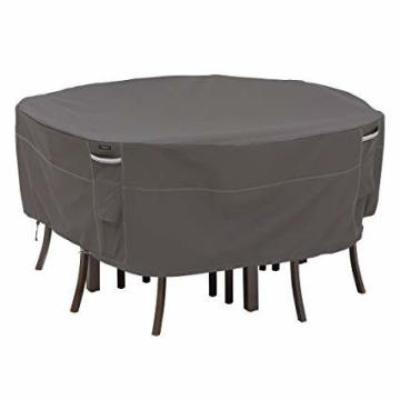 Round Table Cover Outdoor Protection Cover Anti-UV Cover