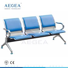 Chaises d'hôpital de salle d'attente de plaque d'acier de roulement à froid d'AG-TWC002 pour des patients