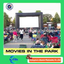 Personalizado oxford tela película al aire libre película inflable película en el parque