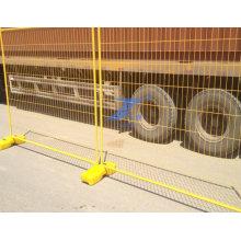 Производитель портативный ПВХ покрытием временный забор