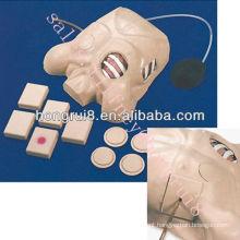 Manequim de treinamento de drenagem pleural Vivid de ISO, modelo de treinamento de enfermagem
