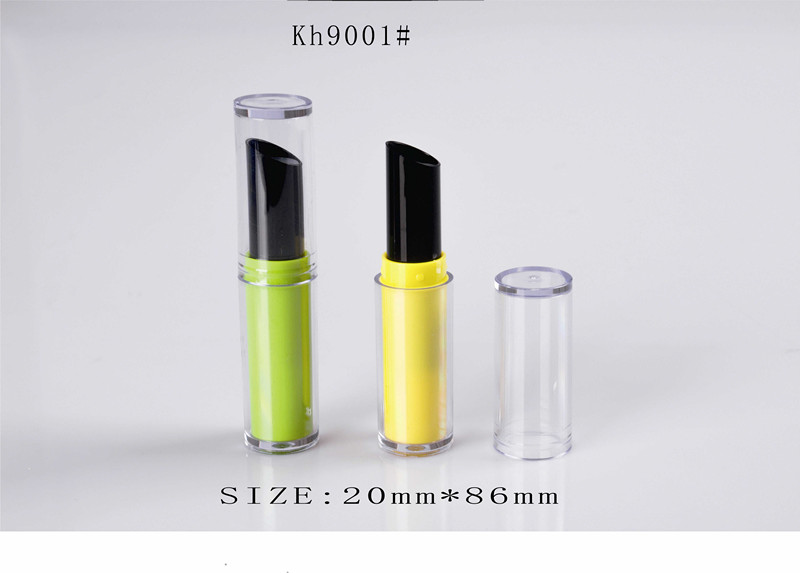 Clear Yellow Lipstick Tube Oval