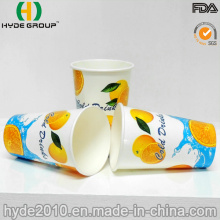 12oz Disposable Double Wall PE Cold Drink Cup for Beverage