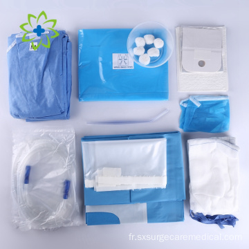 Pack de kit chirurgical dentaire stérile jetable médical