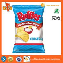 food grade aluminum foil clear plastic packaging bag for chips /snacks
