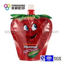 Stand up Spout Bag para jugo de fruta / líquido de lavado diario / leche