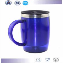 Nuevos caliente venta promoción doble pared oficina taza con asa taza de café